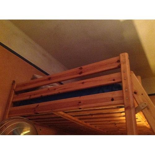 Mezzanine 2 place en pin achat vente de mobilier rakuten - Lit mezzanine 2 places bois ...