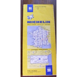 Carte Routi�re Michelin N� 86 , Carte A 1/200000 : Luchon - Perpignan de M Michelin