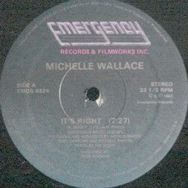 Michelle Wallace It�S Right 12� Emergency 1982 Us Disco Funk Soul Tee Scott Ex - Michelle Wallace It�S Right 12� Emergency 1982 Us Disco Funk Soul Tee Scott Ex