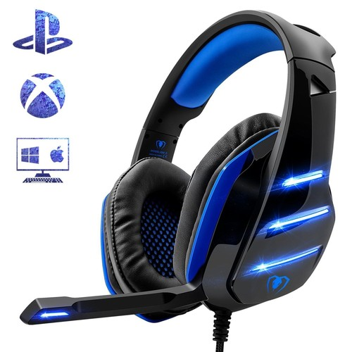 micro casque gaming ps4 casque pc ultra leger stereo bass. Black Bedroom Furniture Sets. Home Design Ideas