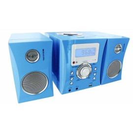 Micro-chaine CD04 bleu + autocollants - CD, Radio FM