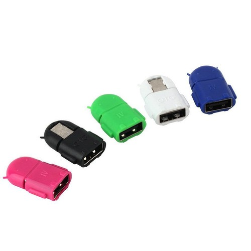 e8341de59f4210 Micro Usb 2.0 Host Mâle Vers Usb Femelle Otg Adapter For Android Tablet Pc  Phone - Robot ...