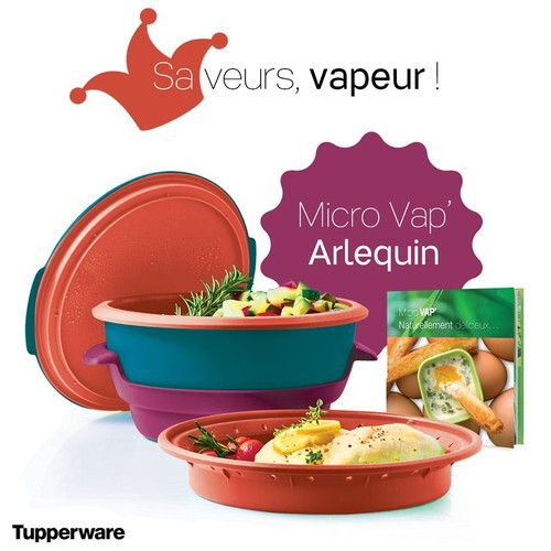 Micro vap arlequin le livre de recettes vapeur tupperware for Tupperware micro vap