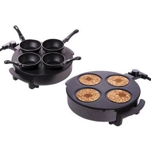 Mini Appareil De Cuisson De Table Pour Crepe Raclette Ou Wok