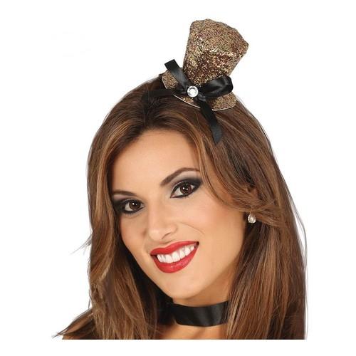 Mini Chapeau Haut De Forme Doré (Taille Unique Femme) 8e28cfdc57a