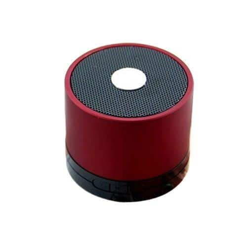 mini enceinte bluetooth rouge lecteur micro sd et usb pas cher. Black Bedroom Furniture Sets. Home Design Ideas