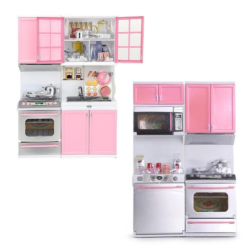 mini ensemble d nette jeu jouet armoires cuisini re panoplie rose pour enfant. Black Bedroom Furniture Sets. Home Design Ideas