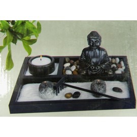 Mini jardin zen rectangle 21 5x16cm d coration m ditation for Deco jardin zen miniature