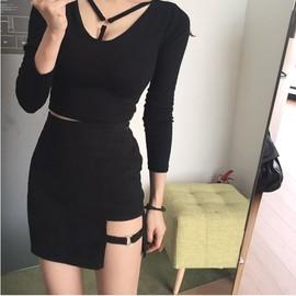 Underwear S Noire Mini Woman Skirt 36 Xs 38 Femme Jupe Anneau vO0wm8Nn