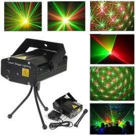 mini led laser stage projecteur rouge vert lumiere eclairage dj disco f te prise us. Black Bedroom Furniture Sets. Home Design Ideas