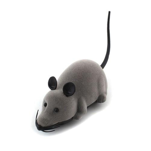 mini rat souris t l commande lectronique jouet pour chat chien souris gris oreille noir. Black Bedroom Furniture Sets. Home Design Ideas