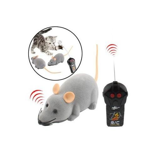souris lectronique rat t l command e jouet pour chat chien gris. Black Bedroom Furniture Sets. Home Design Ideas