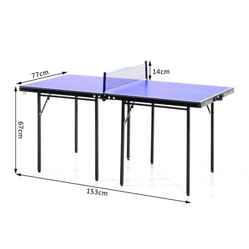 82 Acier Noir 153l 67h De 77l Ping Pong X Tennis Cm Bleu Mini Et Table Pliable Portable NkX08ZnwOP
