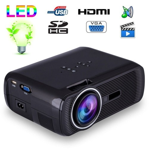 mini vid oprojecteur portable led 1000 lumens hd carte sd usb noir. Black Bedroom Furniture Sets. Home Design Ideas