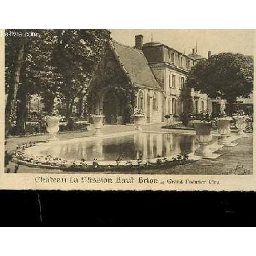 Mission La Haut Brion Carte Postale Photo En Noir Et Blanc Du Chateau Livre Ancien 876005721 L