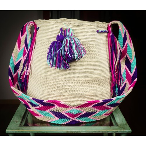 Main Mochila Guajira Modèle Sac Bag Fait La Grand Wayuu À yNv8wmn0O