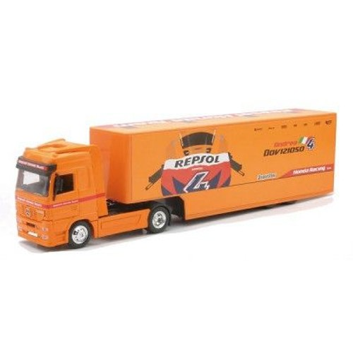 mod le r duit camion remorque mercedes benz actros team moto gp repsol honda 2010. Black Bedroom Furniture Sets. Home Design Ideas