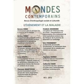 Mondes Contemporains N� 2 - L'�v�nement Et La Maladie de Jean-Yves Boursier