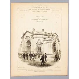 Monographies de b timents modernes exposition universelle de 1900 pavillon de la chambre de - Chambre du commerce de paris ...