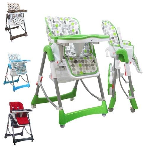 Chaise haute b b pliable r glable hauteur dossier et tablette ptit pois monsieur b b - Chaise haute bebe pliable ...