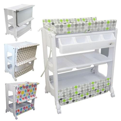 table langer avec baignoire et rangements vert monsieur b b. Black Bedroom Furniture Sets. Home Design Ideas