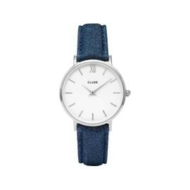 Montre Cluse Pour Femme Minuit Argent Blanc/Bleu Denim Cl30030