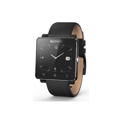 montre connect e sony smartwatch 2 cuir noir pas cher. Black Bedroom Furniture Sets. Home Design Ideas