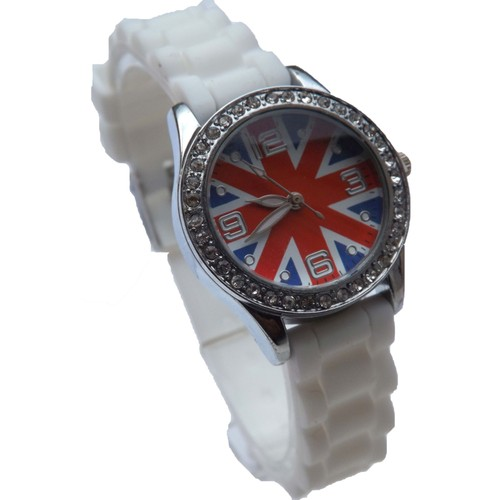 montre fille femme ado london union jack drapeau anglais. Black Bedroom Furniture Sets. Home Design Ideas