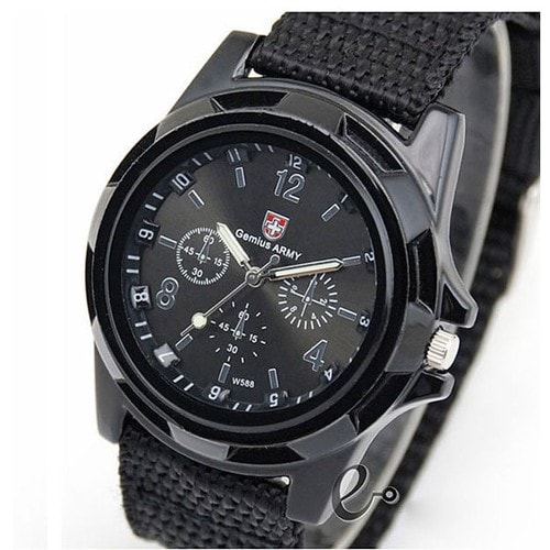 montre militaire homme arm e suisse gemius army bracelet tissu. Black Bedroom Furniture Sets. Home Design Ideas