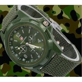montre militaire homme arm e suisse gemius army bracelet tissu vert militaire. Black Bedroom Furniture Sets. Home Design Ideas