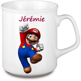 mug tasse mario personnaliser au prenom de votre choix. Black Bedroom Furniture Sets. Home Design Ideas