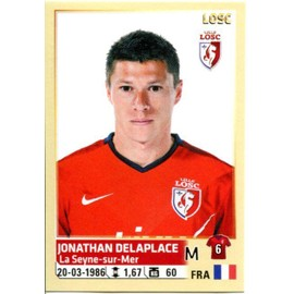 N� 157 - Jonathan Delaplace - Losc Lille - Ligue1 - Sticker Foot 2014-2015 Panini