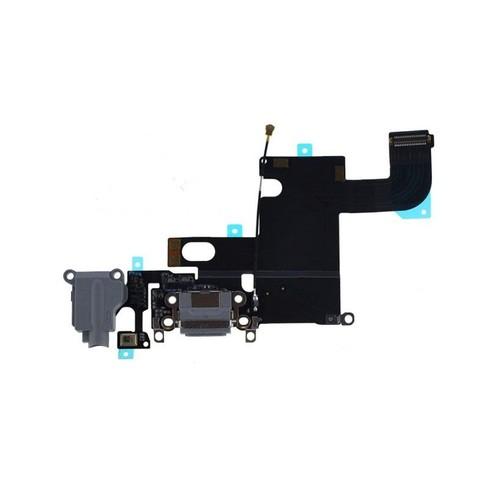 nappe dock connecteur de charge jack micro gris noir pour iphone 6. Black Bedroom Furniture Sets. Home Design Ideas