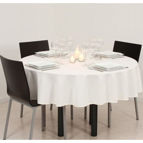 nappe ronde 180 cm atmosphera couleur ivoire anti taches. Black Bedroom Furniture Sets. Home Design Ideas