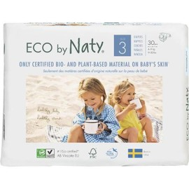 Naty Couches Ecologiques T3 Midi X 30 - Blanc