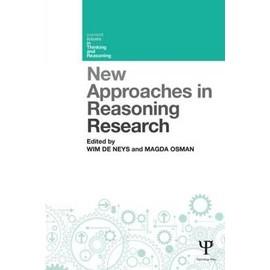 New Approaches In Reasoning Research de Wim De Neys