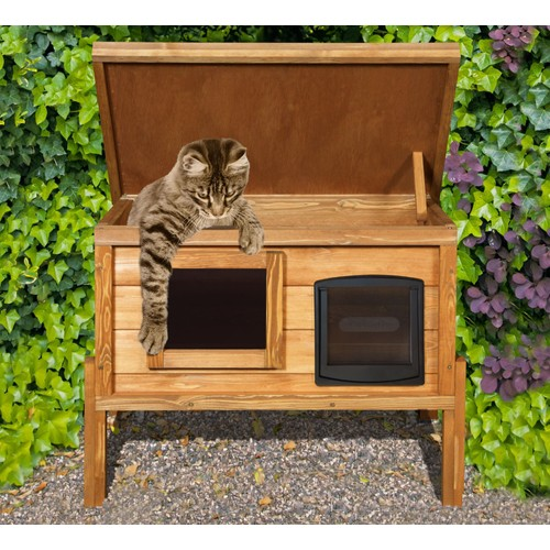 niche auto chauffante pour chat avec fen tre recouverte d 39 un film intimit. Black Bedroom Furniture Sets. Home Design Ideas