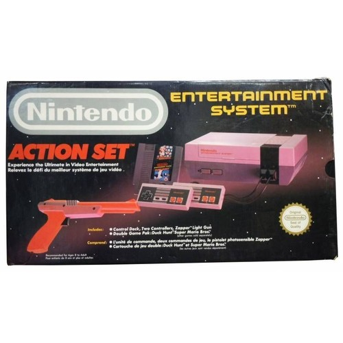 nintendo nes nintendo entertainment system action set. Black Bedroom Furniture Sets. Home Design Ideas