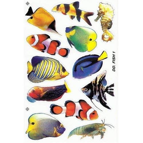 No 235 stickers poissons exotiques aquarium deco maison for Carrelage ecaille poisson