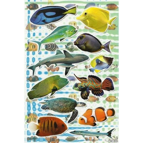 No 275 stickers poissons exotiques rare decoration maison for Poisson exotique aquarium