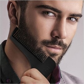 noir peigne a barbe parfaite professionnel barbier homme contour. Black Bedroom Furniture Sets. Home Design Ideas