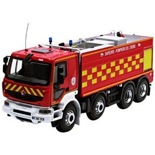 norev 1 43 camion pompiers renault kerax 8x4 2008 dessus benne alu. Black Bedroom Furniture Sets. Home Design Ideas