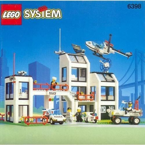 Notice De Montage Lego System Commissariat De Police N 176 6398