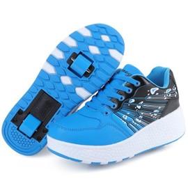 nouveau enfants adultes chaussures roulettes heelys gar ons filles sneakers avec roues. Black Bedroom Furniture Sets. Home Design Ideas