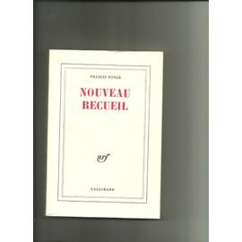 Nouveau Recueil de francis ponge