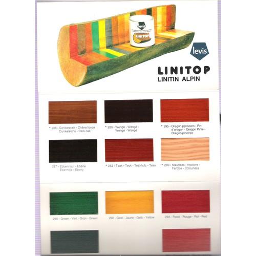 nuancier linitop protection du bois fongicide int rieur. Black Bedroom Furniture Sets. Home Design Ideas