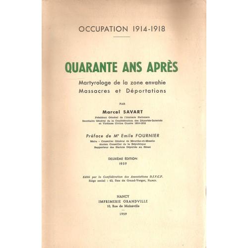 Occupation 1914 1918 quarante ans apr s martyrologie de - Code avantage aroma zone frais de port ...