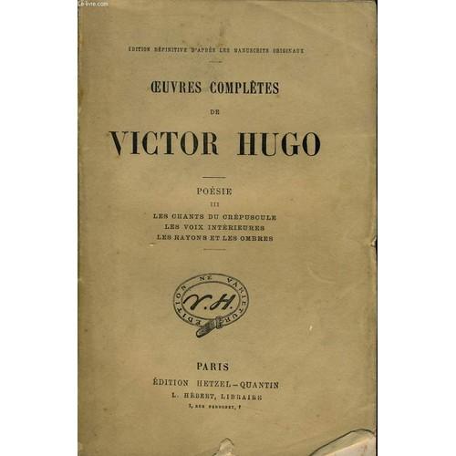 Oeuvres Completes De Victor Hugo