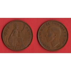 one penny 1944 1 penny royaume uni GB Bronze