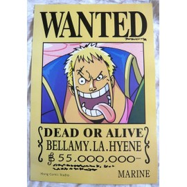 One Piece Poster Wanted Bellamy La Hy�ne Neuf